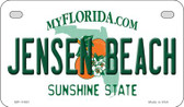 Jensen Beach Florida State Novelty Motorcycle License Plate MP-11691