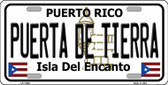 Puerta De Tierra Puerto Rico Novelty License Plate LP-11692