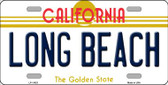 Long Beach California Novelty License Plate LP-11423