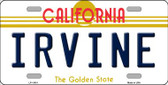 Irvine California Novelty License Plate LP-11431