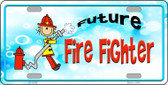 Future Fire Fighter Novelty License Plate LP-11539