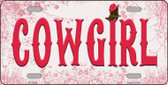 Cowgirl Novelty License Plate LP-11568