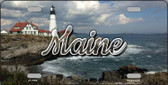 Maine Lighthouse Beach State License Plate LP-11604