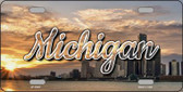 Michigan City Sunset State License Plate LP-11607
