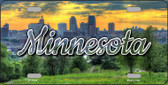 Minnesota City Skyline Sunset State License Plate LP-11608