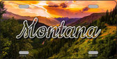 Montana Forest Sunset State License Plate LP-11612