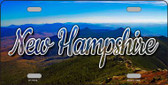 New Hampshire Mountain Range State License Plate LP-11615