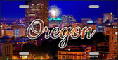 Oregon Firework City Lights State License Plate LP-11625