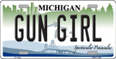 Gun Girl Michigan Novelty License Plate LP-11643