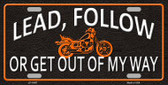 Lead Follow Novelty License Plate LP-11667