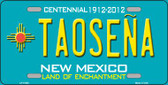 Taosena Teal New Mexico Novelty License Plate LP-11650