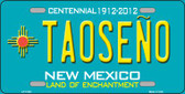 Taoseno Teal New Mexico Novelty License Plate LP-11651