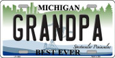 Grandpa Michigan Novelty License Plate LP-11693