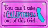 California Girl Motorcycle License Plate MP-9796