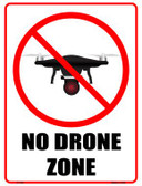 No Drone Zone Novelty Parking Sign P-1736