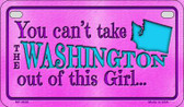 Washington Girl Motorcycle License Plate MP-9838