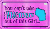 Wisconsin Girl Motorcycle License Plate MP-9840