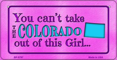 Colorado Girl Bicycle License Plate BP-9797