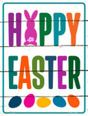 Happy Easter with Eggs Novelty Parking Sign P-1760
