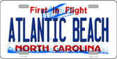 Atlantic Beach North Carolina State Novelty License Plate LP-11749