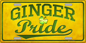 Ginger Pride Novelty License Plate LP-11742