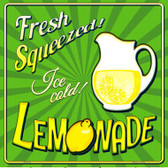 Fresh Squeezed Ice Cold Lemonade Novelty Square Sign SQ-332