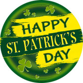 Happy St. Patrick's Day Novelty Metal Circular Sign C-836