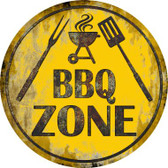 BBQ Zone Wholesale Novelty Metal Circular Sign C-837