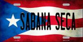 Sabana Seca Puerto Rico Flag Novelty License Plate LP-11760
