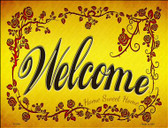 Welcome Grape Vines Novelty Parking Sign P-1794