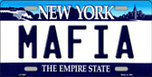 Mafia New York Novelty Metal License Plate