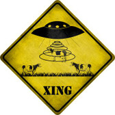 Alien Abduction Xing Novelty Crossing Sign CX-319