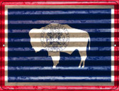 Wyoming Flag Novelty Parking Sign P-2364