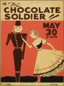 The Chocolate Soldier Vintage Poster Parking Sign P-1915