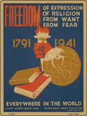 Freedom Everywhere Vintage Poster Parking Sign P-1935