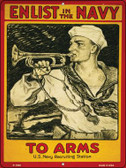 Enlist in the Navy Vintage Poster Parking Sign P-1936