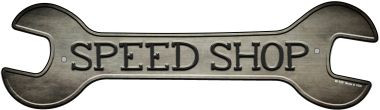 Speed Shop Novelty Metal Wrench Sign W-159