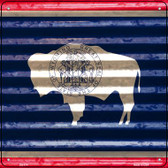 Wyoming Flag Corrugated Effect Novelty Square Sign SQ-474