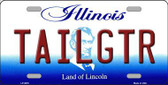 Tailgtr Illinois Novelty Metal License Plate