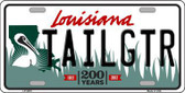 Tailgtr Louisiana Novelty Metal License Plate