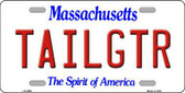 Tailgtr Massachusetts Novelty Metal License Plate