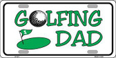 Golfing Dad Metal Novelty License Plate