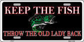 Keep the Fish Metal Novelty License Plate LP-377