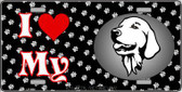 I Love My Golden Retriever Metal Novelty License Plate LP-3909