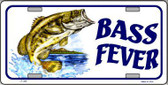 Bass Fever Metal Novelty License Plate LP-399