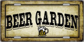 Beer Garden Metal Novelty License Plate LP-4285