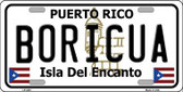 Boricua Puerto Rico Metal Novelty License Plate