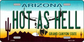 Hot As Hell Arizona Novelty Metal License Plate LP-4454