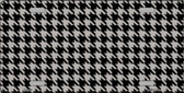 Grey Black Houndstooth Metal Novelty License Plate LP-4566