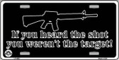 Heard The Shot Metal Novelty License Plate LP-4683